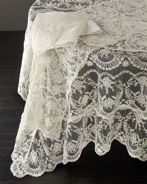 "Chantilly Lace Oblong Tablecloth, 144""L   Neiman Marcus"