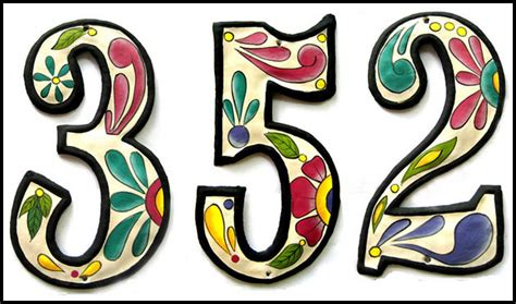 decorative house numbers handcrafted hand painted metal house numbers outdoor decor decorative designs