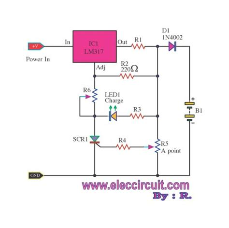 lm317 battery charger circuit diagram the universal battery charger using lm317 electronic