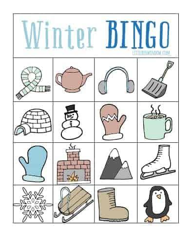 winter bingo card template winter bingo free printable window