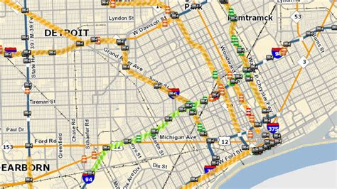 mdot interactive map stretch of i 94 in detroit closed this weekend