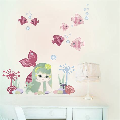 mermaid wall sticker mermaid fabric wall stickers by chocovenyl