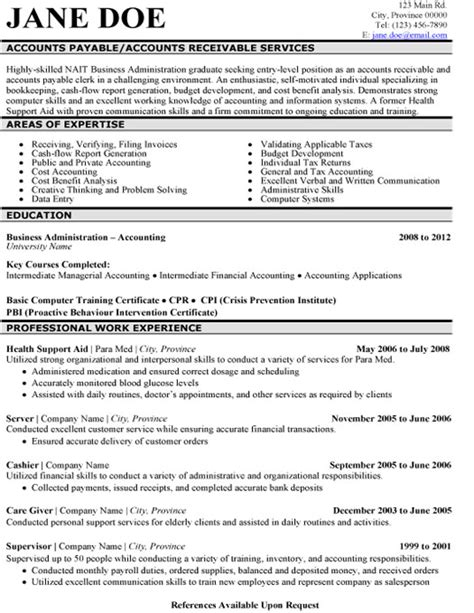accounts payable resume sles accounts payable resume sle template