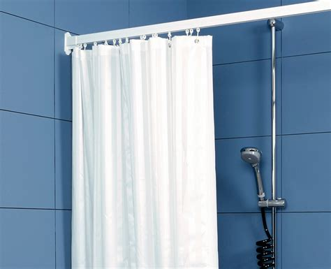wet room curtains shower curtains weighted satin striped white