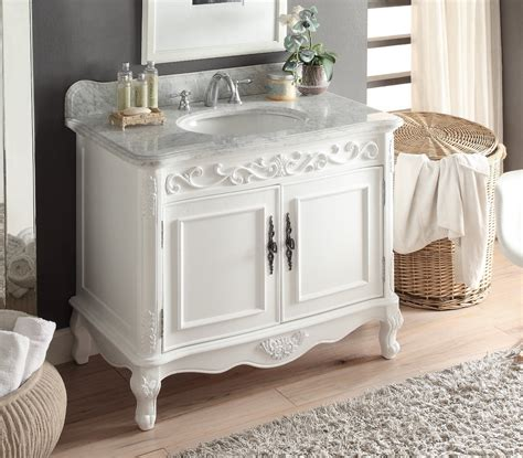 39 Inch Vanity Top by 39 Inch Adelina Antique White Finish Bathroom Vanity