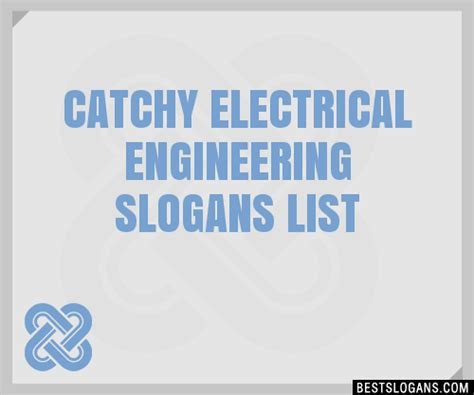 catchy electrical engineering slogans list taglines phrases names