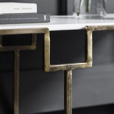 marble console table gatsby marble top console table