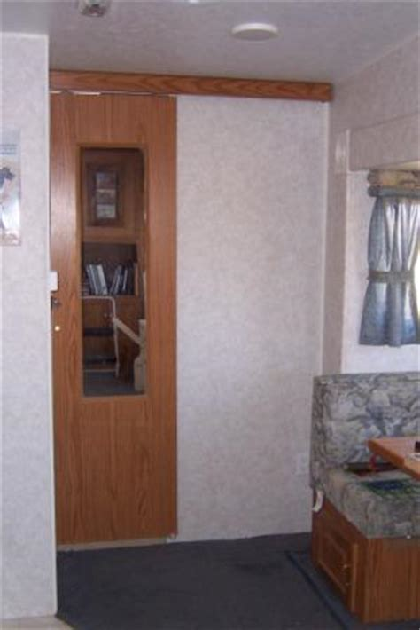 rv bathroom door improving an rv bathroom door
