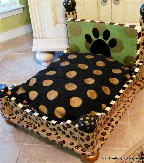 diy dog bed dog bed from an end table leopard print lucy designs