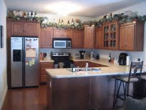 Decorating Ideas For Kitchen Cabinets Decoration For Top Of Kitchen Cupboards Garage Wall Colours