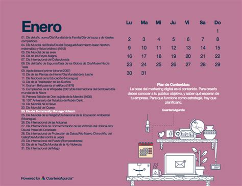 Calendario Digital 2017 Calendario Marketing Digital 2017 183 Cuarteroagurcia