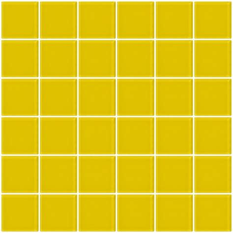yellow subway tile glass tile 2x2 inch bright yellow glass tile