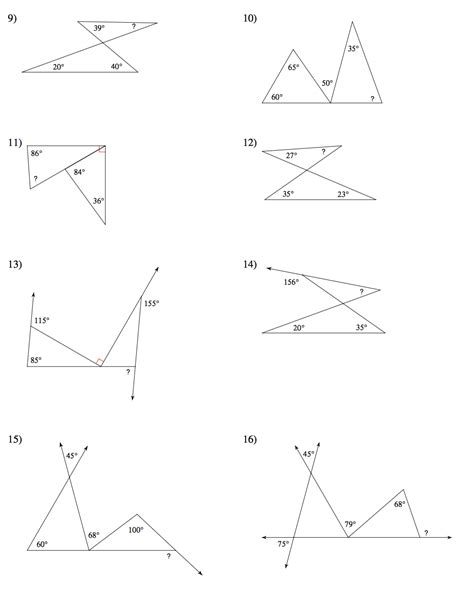 Angles Of Triangles Worksheet by Geometry Mrs Murk S Math Class