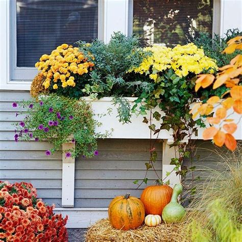 fall curb appeal ideas top three outdoor fall window decorations for your home