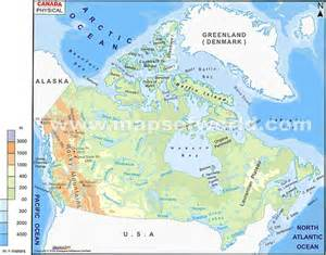 map of canada physical features map of us and canada physical features