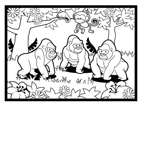 gorilla family coloring page gorilla coloring pages coloringsuite com