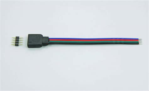 Led Rgb 4 Kaki 4 pin rgb led connector 10cm appl