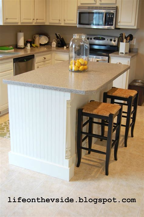 how to add a kitchen island on the v side diy kitchen island update
