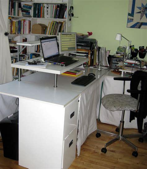 on standing desk a lack desk add on ikea hackers
