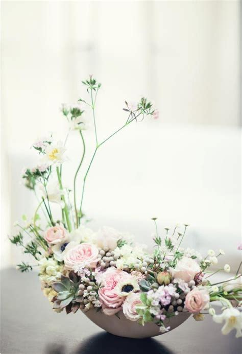 cherry blossom arrangements modern japanese inspired styled shoot wedding flower