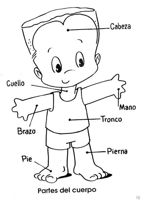 Imagenes Infantiles Del Cuerpo Humano | fichas infantiles fichas del cuerpo humano para infantil