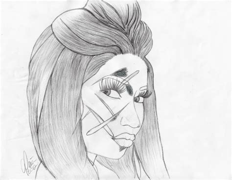 Free Coloring Pages Of How To Draw Nicki Minaj Nicki Minaj Coloring Pages