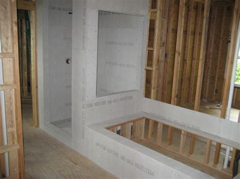 Bathroom Drywall Backer Board Installing Oak Hardwoods Green Button Homes