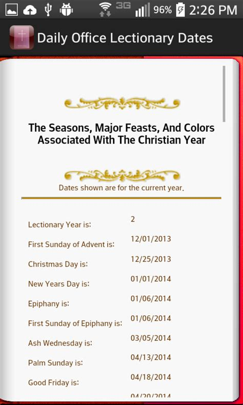 Daily Office Lectionary daily office lectionary android apps on play