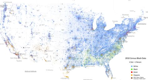 map usa races this map of race in america is pretty freaking awesome