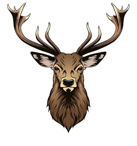 deer head tattoo design
