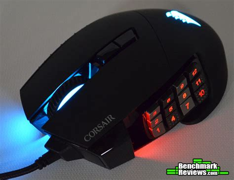 Mouse Gaming Corsair Scimitar Rgb Optical Moba Mmo Gami Murah corsair scimitar pro rgb optical moba mmo corded gaming mouse review ch 9304111 na