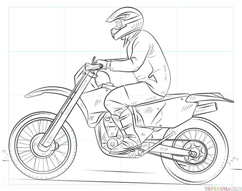 how to draw a motocross bike how to draw a dirty bike step by step drawing tutorials