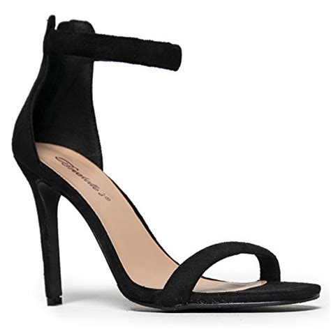 comfortable strappy heels womens ankle strap high heels dress wedding party heeled