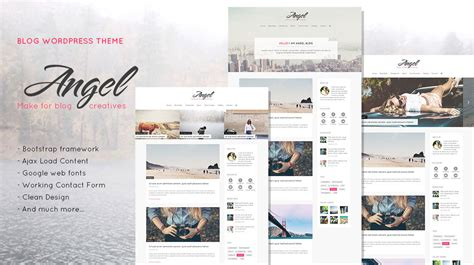 wordpress like templates for blogger angel creative elegant blog wordpress theme themes