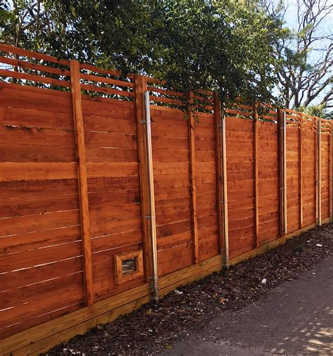 horizontal fence horizontal wood fences a better fence company
