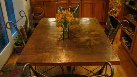 imagine copper kitchen table top - Copper Top Kitchen Table