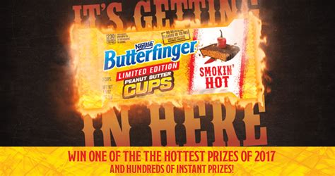 Butterfinger Sweepstakes 2017 - butterfinger sweepstakes instantly win smokin hot prizes