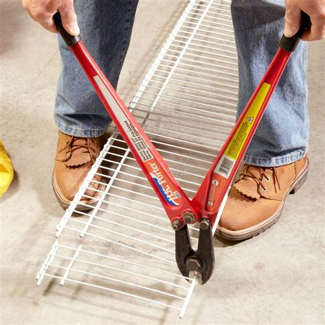how to cut wire shelving how to install wire shelving for a wire closet system the family handyman