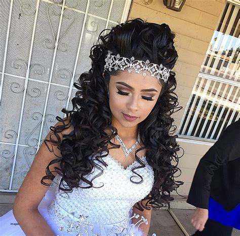 quinceanera hairstyles for medium length hair curly hairstyles unique curly quinceanera hairstyl