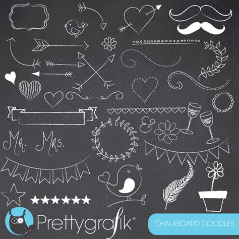 doodle free trial chalkboard doodles clipart