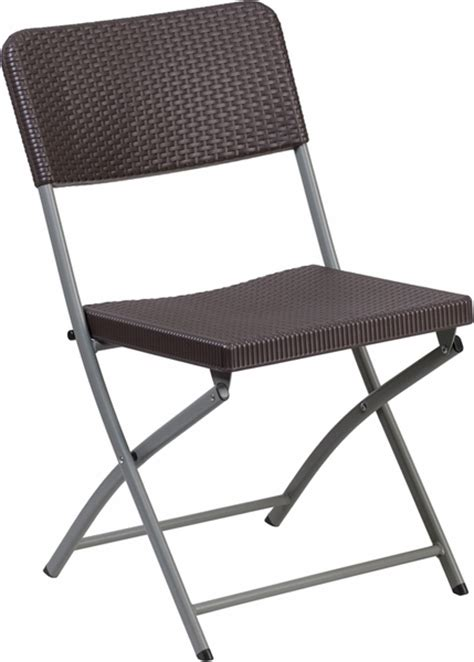 Folding Chairs 4 Less by 32 5 W X 67 5 L Brown Rattan Plastic Folding Table