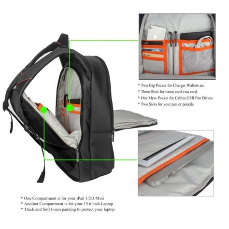 Backpack Laptop Bag Travel With Usb Port D8205w 17 3 Inch Olb1868 dtbg d8205w 15 6 quot laptop storage backpack with usb 2 0 port black free shipping dealextreme