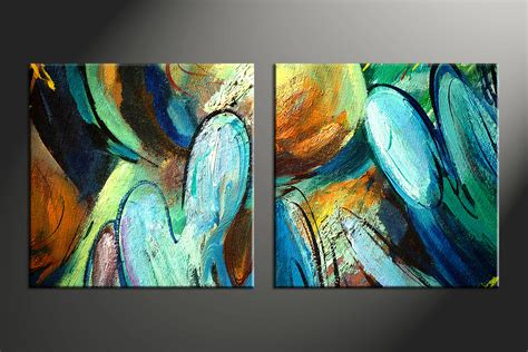 colorful canvas 2 colorful canvas abstract modern paintings