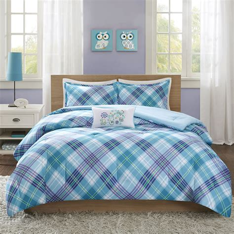 beautiful modern teal blue aqua green purple plaid stripe