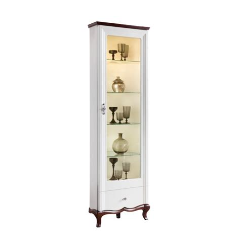 white corner display cabinet adelise high gloss white corner display cabinet with wood