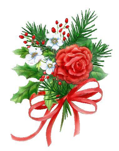imagenes de navidad flores navidad flores gifs animados