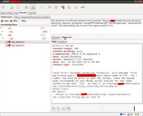 w3af tutorial kali linux kali linux website penetration testing solutionrider