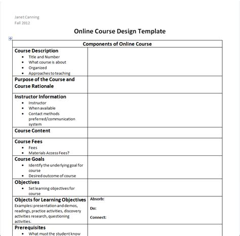 layout design course outline session 8 questions and design assignment online learning