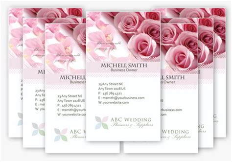 wedding business card template 30 elegantly designed free business card templates
