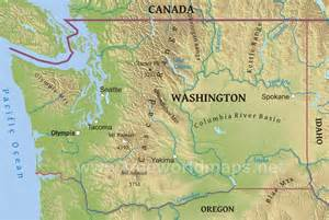 map us washington washington state map